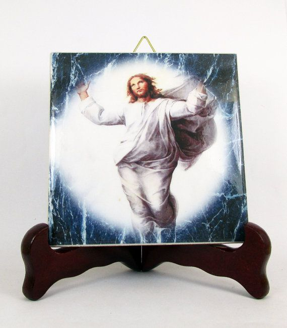 The Ascension of Jesus to Heaven ceramic tile by TerryTiles2014