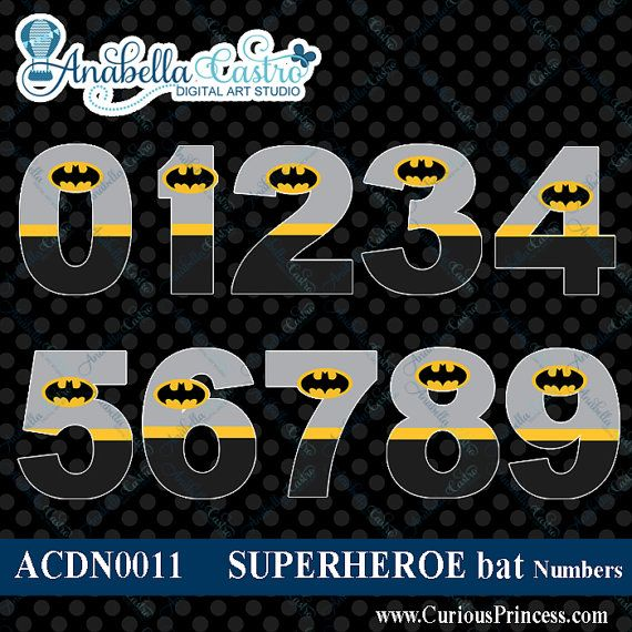 INSTANT DOWNLOAD Batman inspired clipart por ACDigitalArtStudio