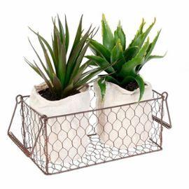 2 Aloe Vera Artificielles En Panier #Plante #PlanteArtificielle #AloeVerra
