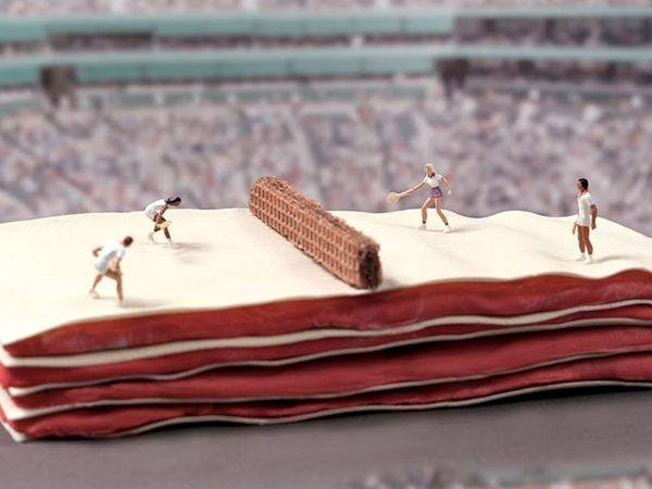 Tênis - Quadra de Lasagna #tenis #lasagna