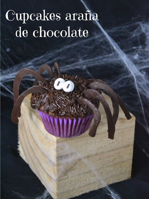 Cupcakes araña de chocolate / Spider chocolate cupcakes | Cuuking!