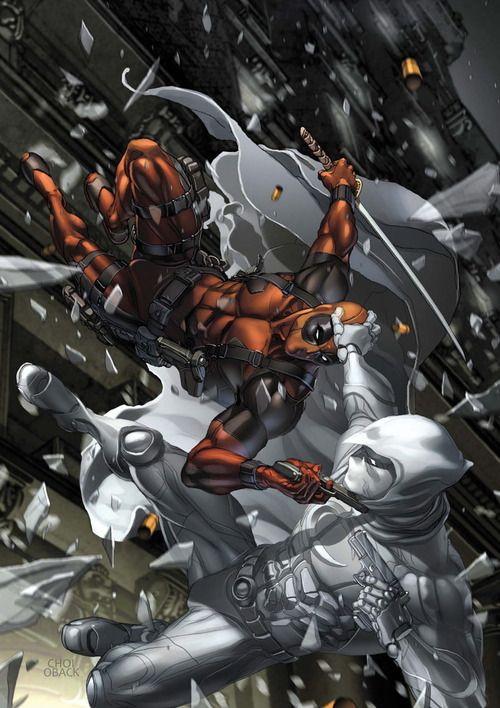 Deadpool vs Moon Knight - Mike Choi