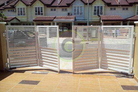 Folding Gate Gate Design Pinterest Steel Gate Gates