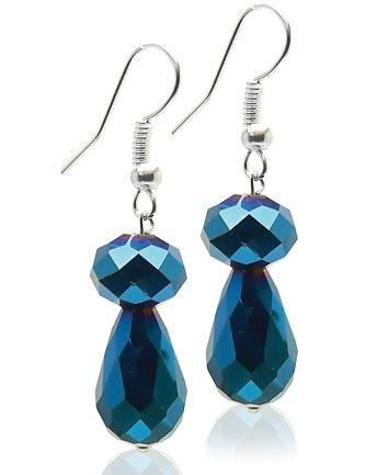 Cercei din cristal albastru COD C6P42