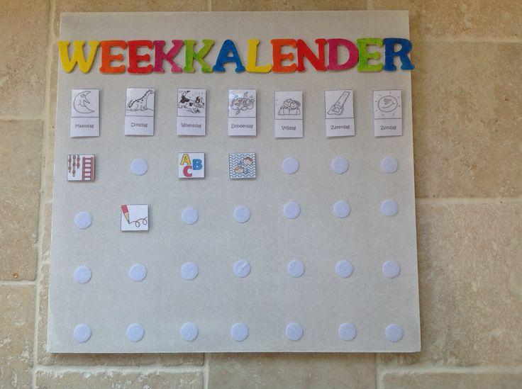 Weekkalender: Klasinrichting