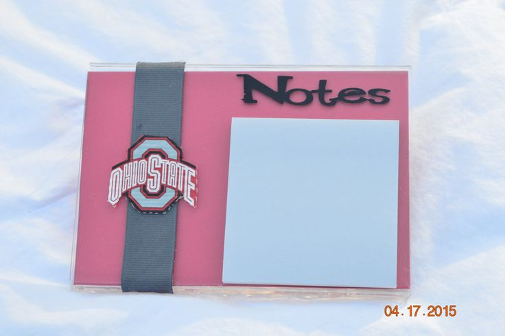 Sticky Note Holder, Teacher Gifts, Secretary Gift, Great for the Kitchen, House Warming Gift, Notepad, Shower Favors - pinned by pin4etsy.com