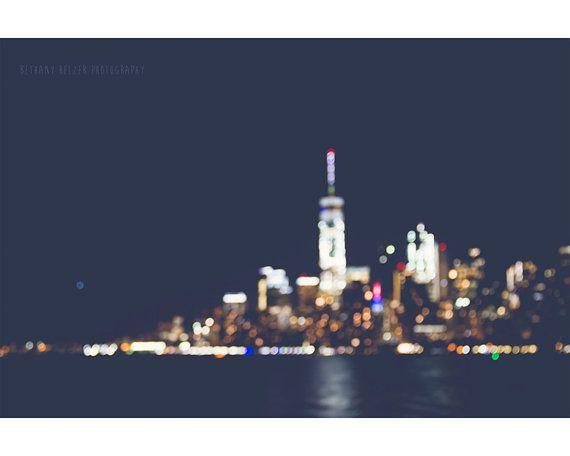 Nyc At Night Photography Bokeh Skyline Cityscape Landscape Blurry Lights New York City Skyline Manhattan Urban Amor Pela Fotografia Land Scape Fotografo