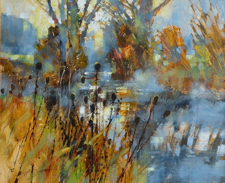 Arch of trees with teasels Chris Forsey