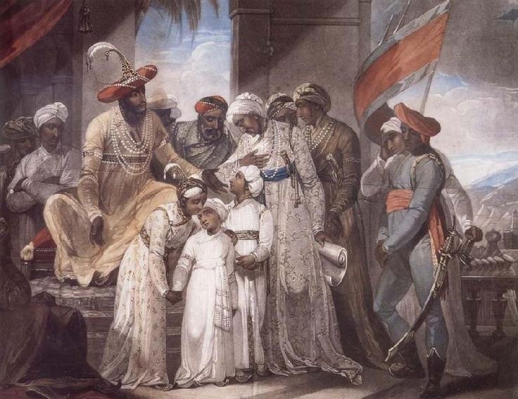 The Sons of Tipu Sultan Leaving their Father by British Painter Henry Singleton.