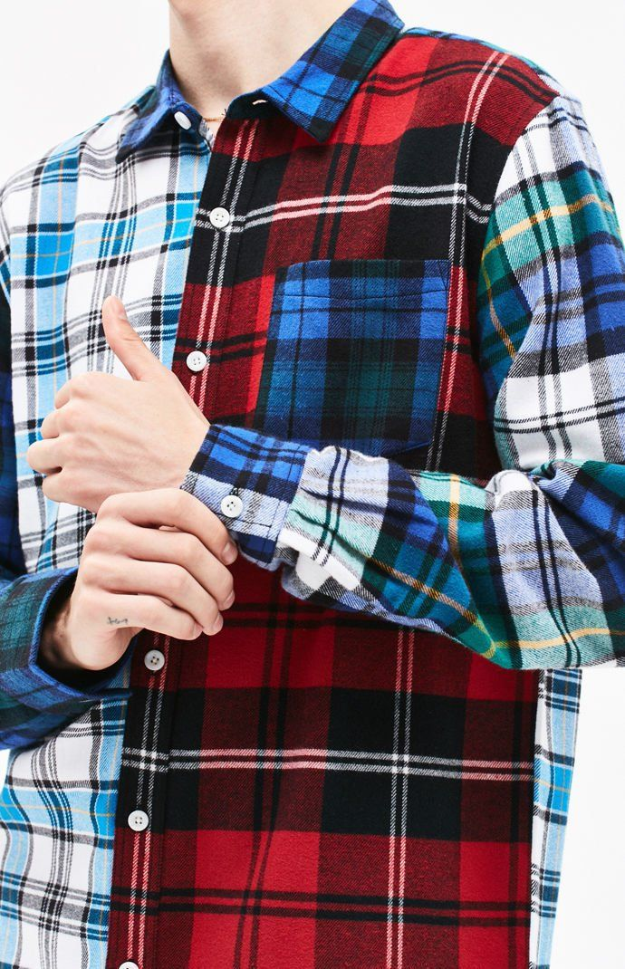 0e37c58b59 Shook Colorblock Plaid Flannel Shirt