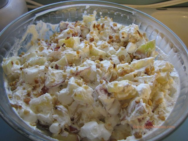 Taffy apple salad- One of my favs thanks to my roomie! Minus the pineapple!