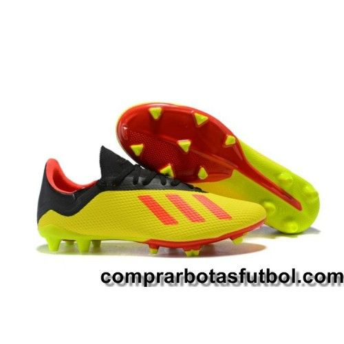 sale retailer 9b18a 31c1e Personalizar Botas De Futbol Adidas X 18.2 FG Amarillo Naranja Negro