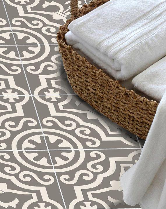 Autocollant de carrelage pour cuisine, salle de bain, plancher, mur imperméable & Peel amovible n Stick : sable W006Q