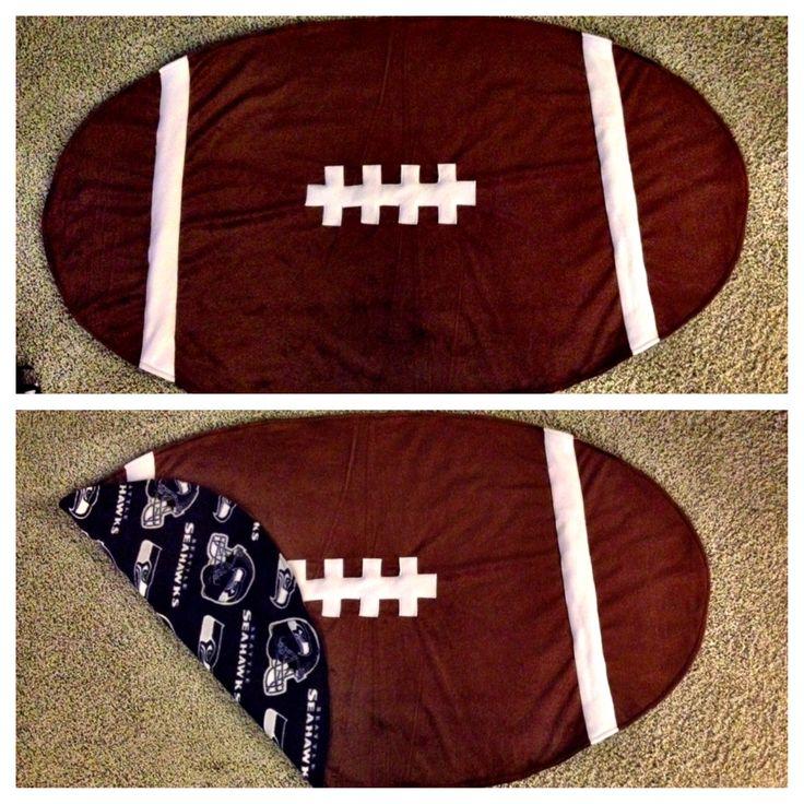 Baby Seahawks football blanket