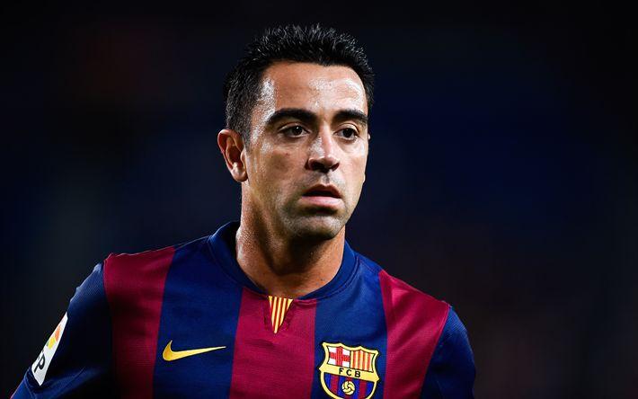 Download wallpapers Xavi, 4k, Barcelona FC, Catalonia, Spain, portrait, Spanish footballer, Xavier Hernandez Creus