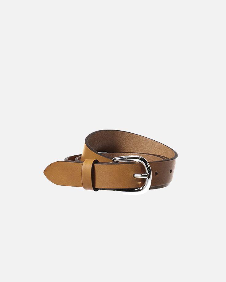 Zap Leather Belt - Natural