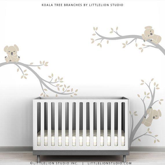 Baby Nursery mur couleurs Pastel bébé décor mur par TheKoalaStore, $79.00