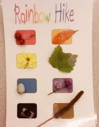 Rainbow Hike Card - more scavenger hunt ideas