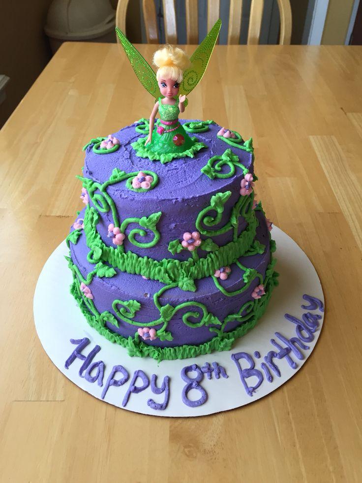 Buttercream Tinker bell cake