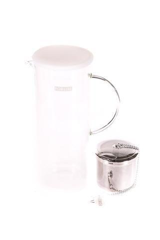 """Pichet à thé glacé """"For Life"""" en verre Lucent de couleur blanc"""