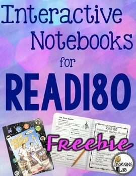 Interactive Notebook freebie! I created this interactive notebook to go along with the Read180 program.  I am excited to share it with you!  If you share in my excitement, please leave feedback...it makes my heart happy!You can read more about how I use it in my classroom in this blog post.Are you looking for alternative book projects for your reluctant readers?