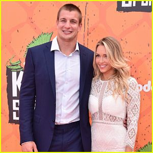 Rob Gronkowski & Girlfriend Camille Kostek Make First Public Appearance at Kids Choice Sports Awards!