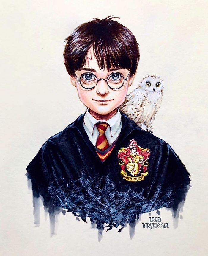 Lera Kiryakova Harry Potter Artwork Harry Potter Cartoon Harry Potter Background