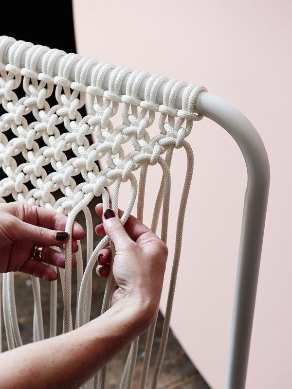 Tamara Maynes macrame on The Design Files | Australia's most popular design blog. Photo Eve Wilson