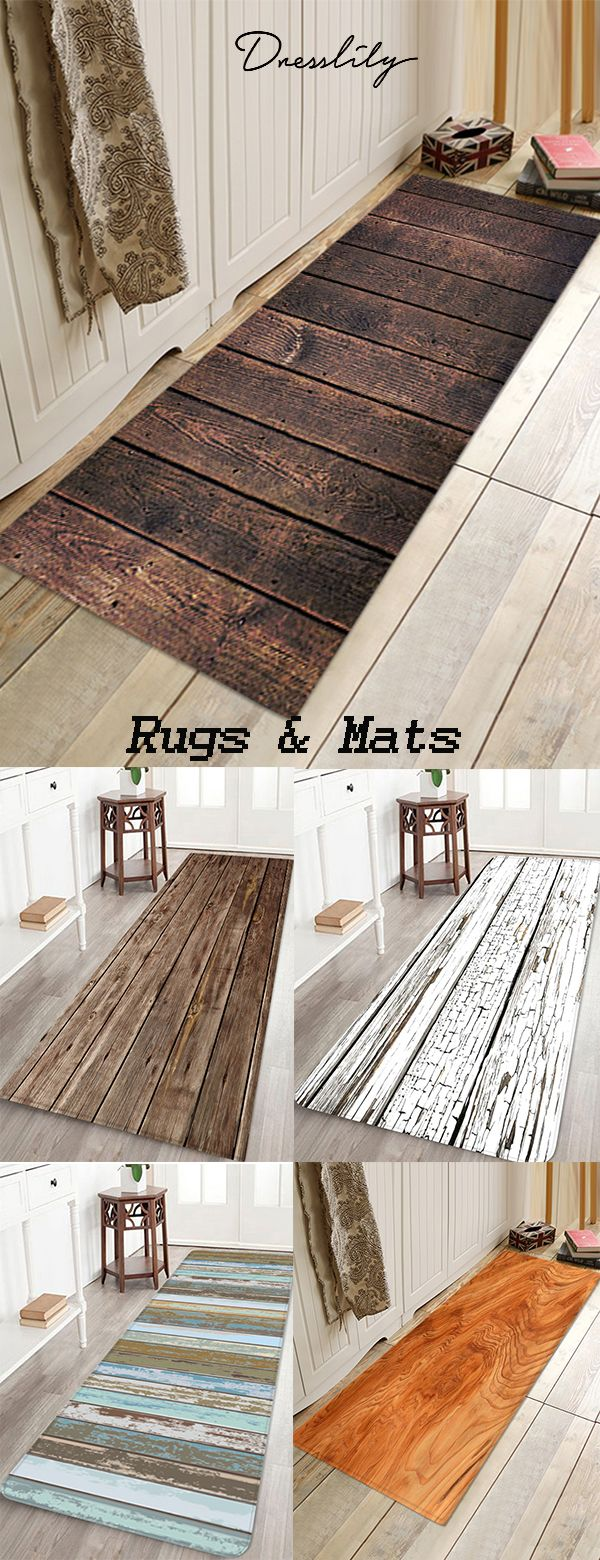 Wood lath pattern anti-skid water absorption area …