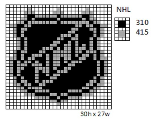 Crochet Fanatic: NHL Logos and Name Plates