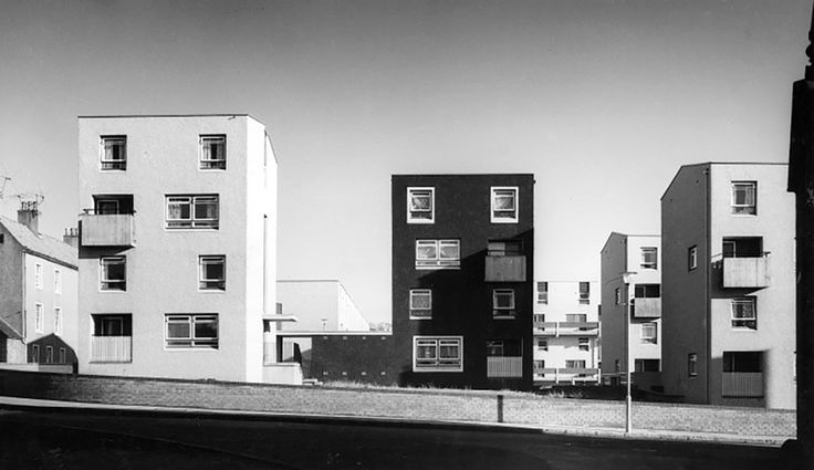 wheeler and sproson - flats, howard street, dysart, scotland, 1970