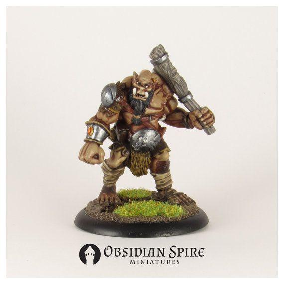Hand Painted Ogre Reaper Bones 25 Mm Heroic By