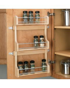 Rev A Shelf Door Mount Wood Spice Rack Kitchens In 2019 Door