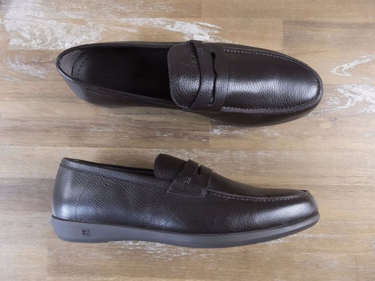 auth ERMENEGILDO ZEGNA brown leather loafers shoes - Size 10.5 US / 9.5 UK / 43.5 EU - New in Box | eBay
