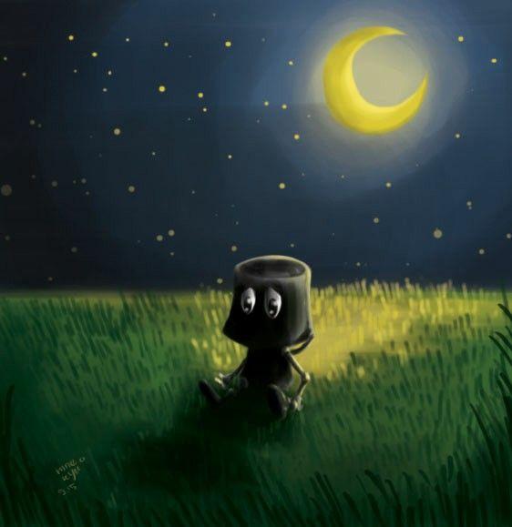 #lonely #alone #missing #robot #illustration #ninekyu