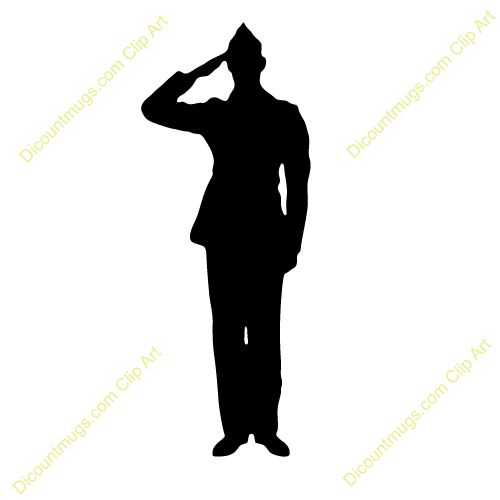 military silhouettes free graphics clipart 12368 soldier salute rh pinterest com army clipart images army clipart free