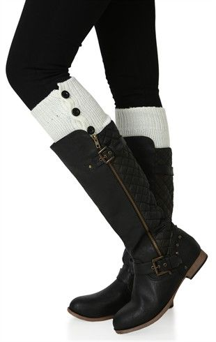Leg Warmer with Eight Buttons