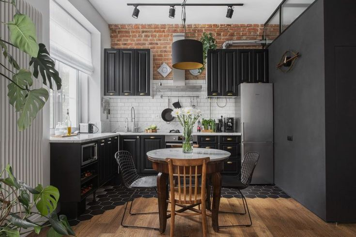 Remodeled Stalinist Style Apartment was converted into a Modern Space with a Retro Touch #luxuryapartment