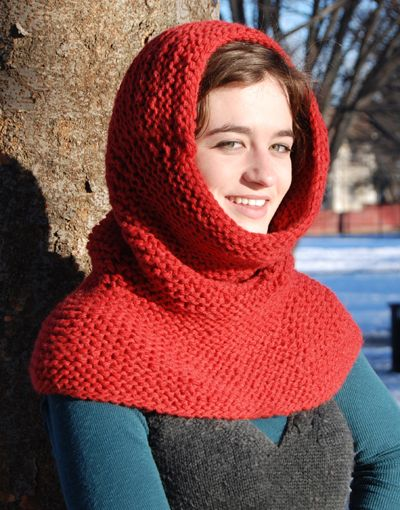 Knitting Pattern Cowl Hood : knitted cowl hood Knitted scarves, bags hats and mittens Pinterest