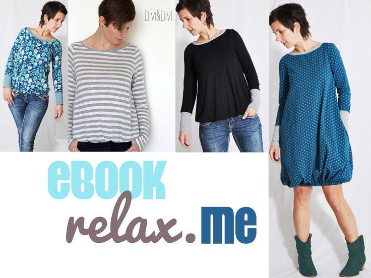 """eBOOK #62 Damenshirt + Kleid """"relax me"""" - Schnittmuster und Nähanleitungen bei Makerist"""
