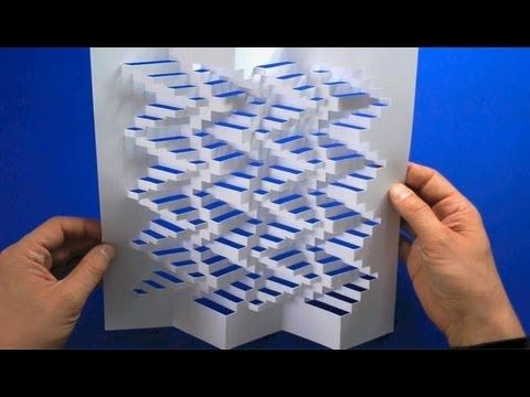 3D-Paper-Structure Tutorial. Even with patterns and step by step I could never do this, but the YouTube videos are great.
