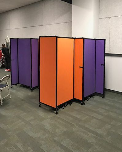 Versare offers a wide range of bright and neutral color fabric for our portable partitions. What style are you looking for to suit your space?