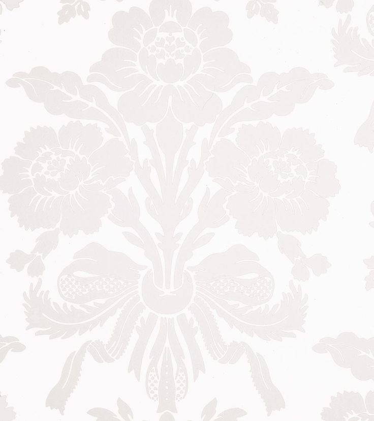 Std Wp Tatton White - Laura Ashley wallpaper - French provincial kitchen/meals area