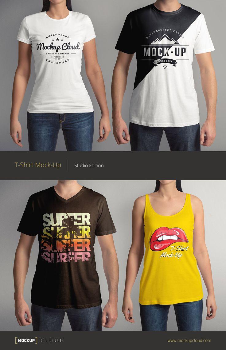 Mockup t shirt black psd - T Shirt Mock Up Set