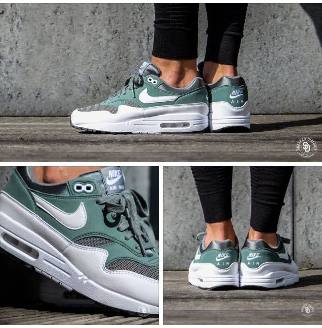 Sneaker District - Nike Women's Air Max 1 Clay Green/White ...