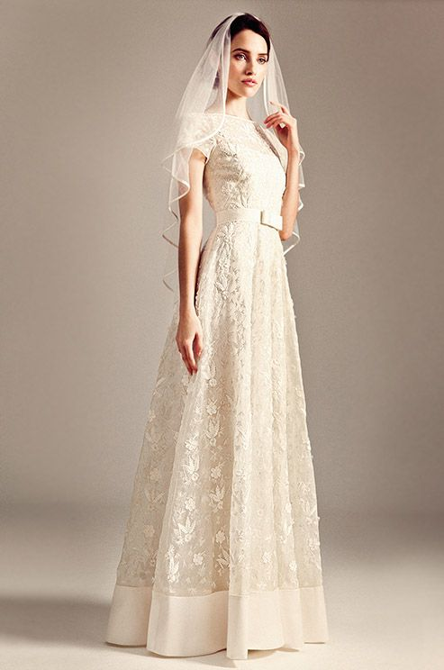 Such a cute wedding dress from Temperley, Iris bridal collection.
