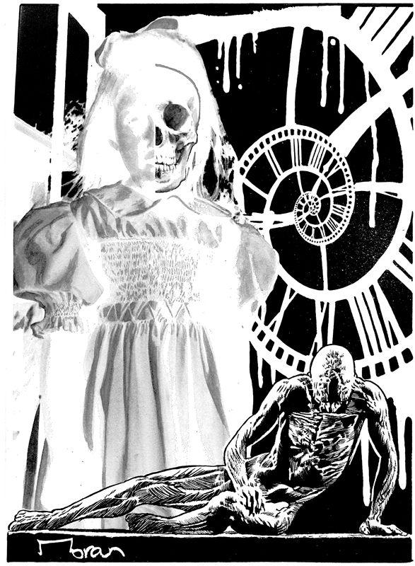 "Interior artwork for the ""Haunting the Past"" short story. Artwork by Rob Moran.  http://getbook.at/JasperPrimeCuts"