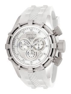 Now that's just a classy watch. ----- Invicta Watches Men's Reserve Bolt Stainless Steel & White Watch Sale! Up to 75% OFF! Shop at Stylizio for women's and men's designer handbags, luxury sunglasses, watches, jewelry, purses, wallets, clothes, underwear & more!