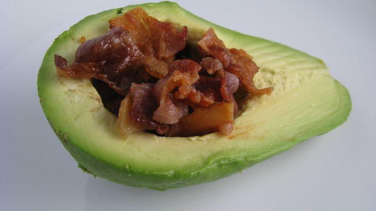 Bacon stuffed avocado, yes please
