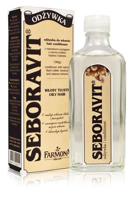 Odżywka hamująca przetłuszczanie / butelka szklana ♥ http://farmona.pl/produkty/pielegnacja-wlosow/seboravit-linia-do-wlosow-z-lojotokiem/